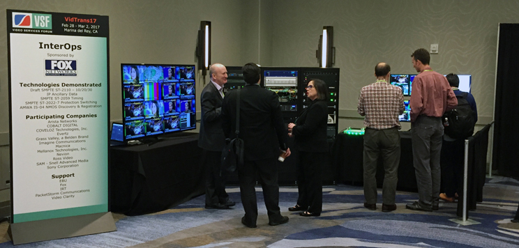 Picture of the VidTrans17 Interop Demonstration